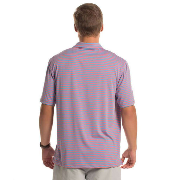 Perdido Stripe Polo in Blue Strawberry by The Southern Shirt Co.. - FINAL SALE
