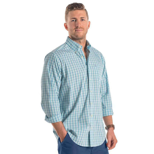Sandpiper Plaid in Cendre Blue by The Southern Shirt Co..