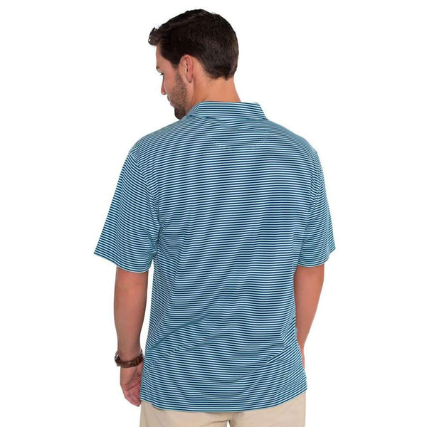 Shearwater Stripe Polo in Blue Tint by The Southern Shirt Co.. - FINAL SALE