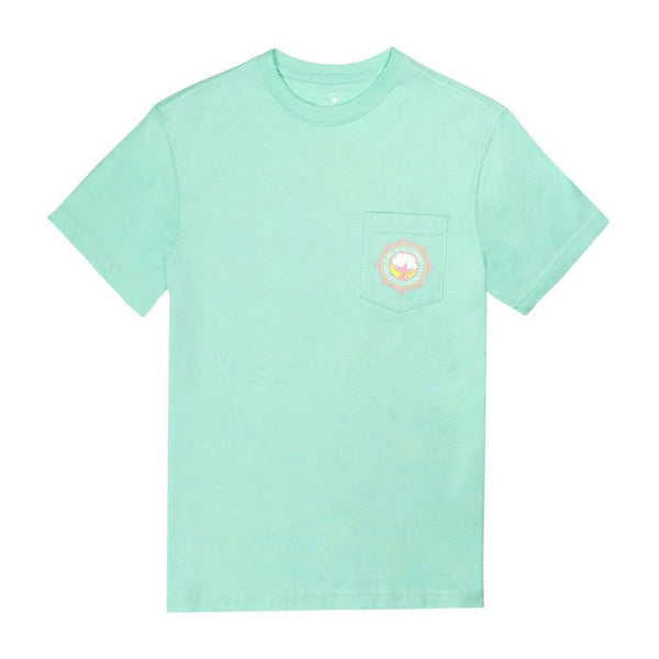 Sun-Kissed Flower SS in Lucite Green by The Southern Shirt Co.. - FINAL SALE