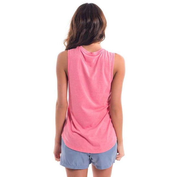 Southern Shirt Co. Vintage Burnout Tank in Pink Lemonade