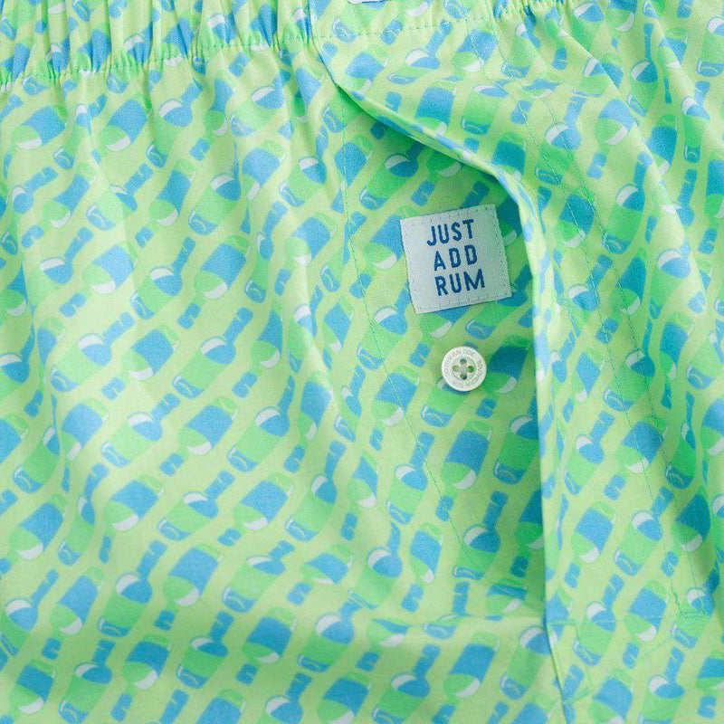 99 Bottles Boxer In Lime By Southern Tide
