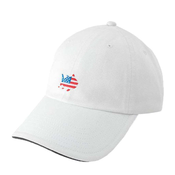 American Flag Skipjack Hat in White by Southern Tide