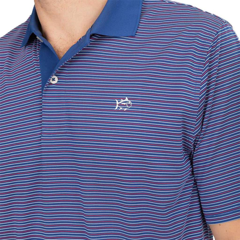 Southern Tide Fireworks Performance Striped Polo Shirt by Southern Tide