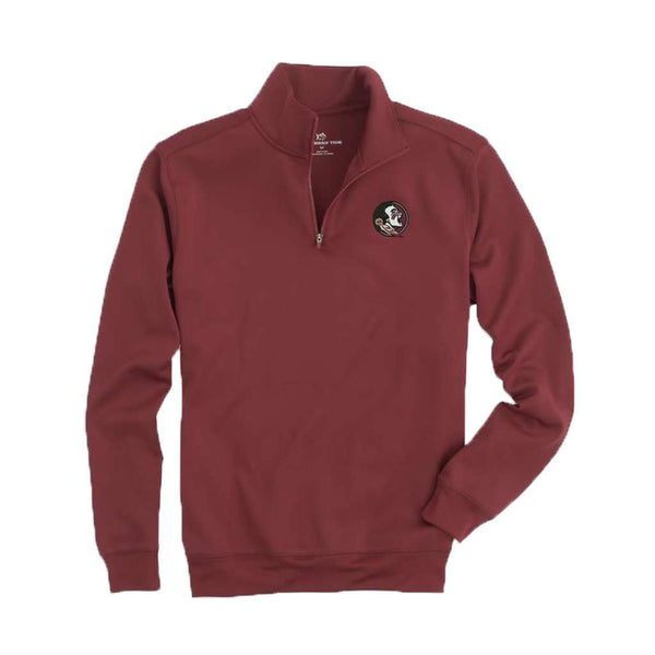 Southern Tide Florida State Gameday Performance Skipjack 1/4 Zip Pullover in Chianti