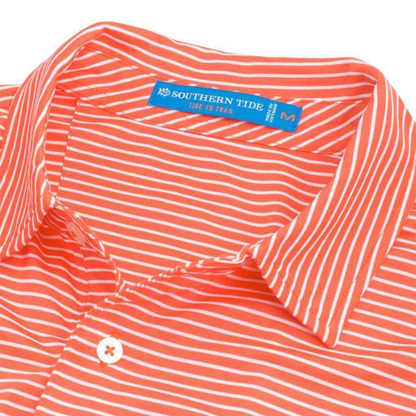 Southern Tide Clemson Tigers Striped Performance Polo Shirt by Southern Tide
