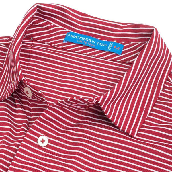 Southern Tide Alabama Crimson Tide Striped Performance Polo Shirt by Southern Tide