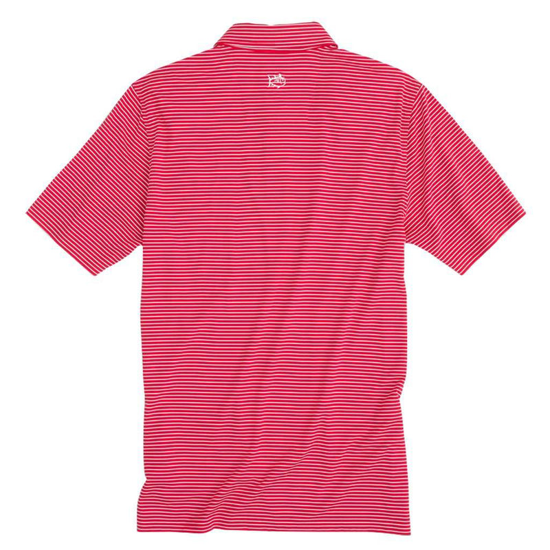 Southern Tide Georgia Bulldogs Striped Performance Polo Shirt by Southern Tide