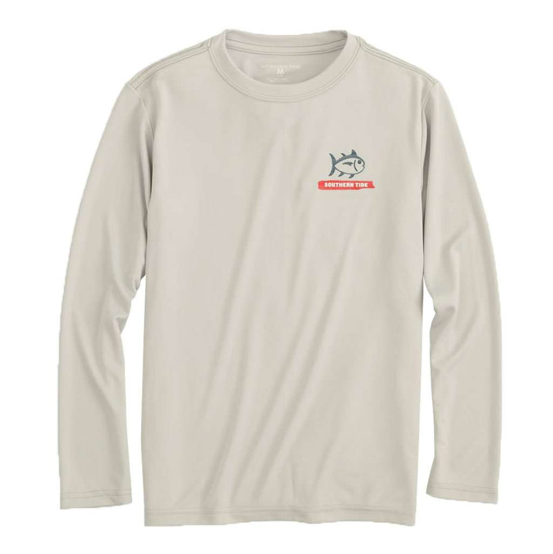 Southern Tide Kids Wood Flag Long Sleeve Performance T-Shirt by Southern Tide