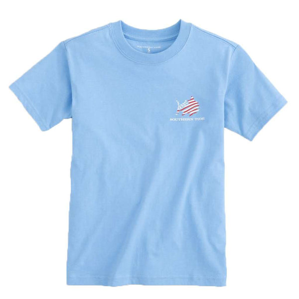 Southern Tide Kid's Red, White & Awesome T-Shirt by Southern Tide