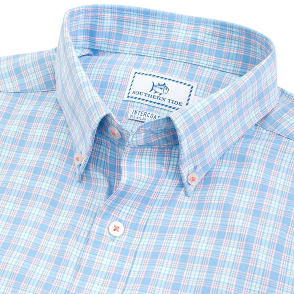 Southern Tide Duneside Plaid Intercoastal Performance Sport Shirt by Southern Tide