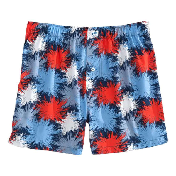 Fireworks Boxer in Yacht Blue by Southern Tide