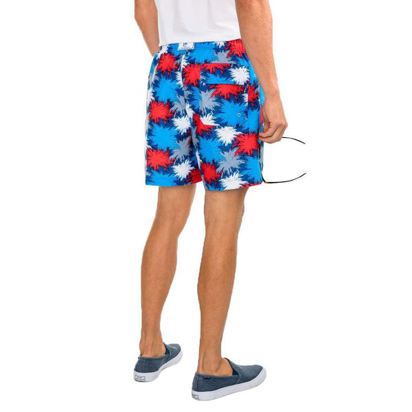 Fireworks Swim Trunks in Seven Seas Blue by Southern Tide - FINAL SALE