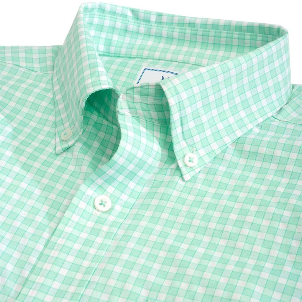 Lucayan Gingham Intercoastal Short Sleeve Button Down by Southern Tide