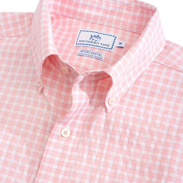 Southern Tide Lucayan Gingham Intercoastal Short Sleeve Button Down by Southern Tide