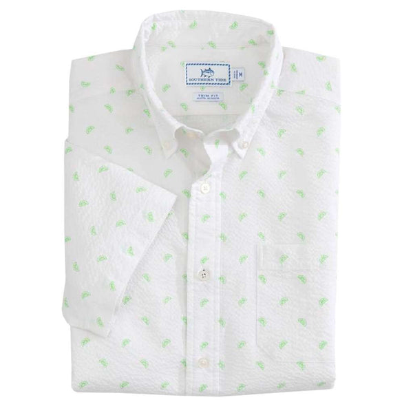 Southern Tide Pick Up Limes Seersucker Short Sleeve Button Down by Southern Tide