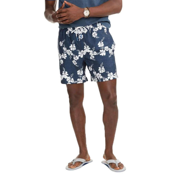 e35a119279 Southern Tide Reyn Spooner Aloha Swim Trunks by Southern Tide Country Club  Prep True Navy / S
