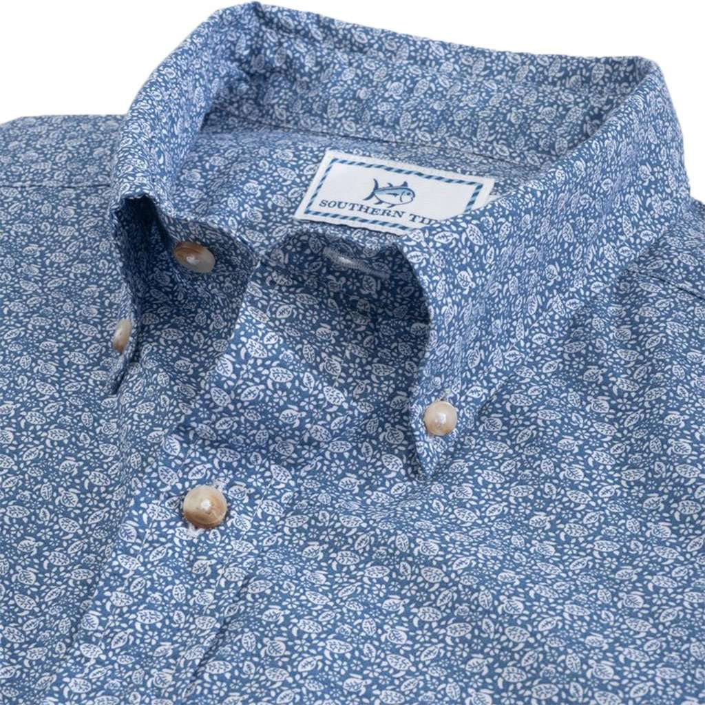Sea Turtles Short Sleeve Button Down by Southern Tide
