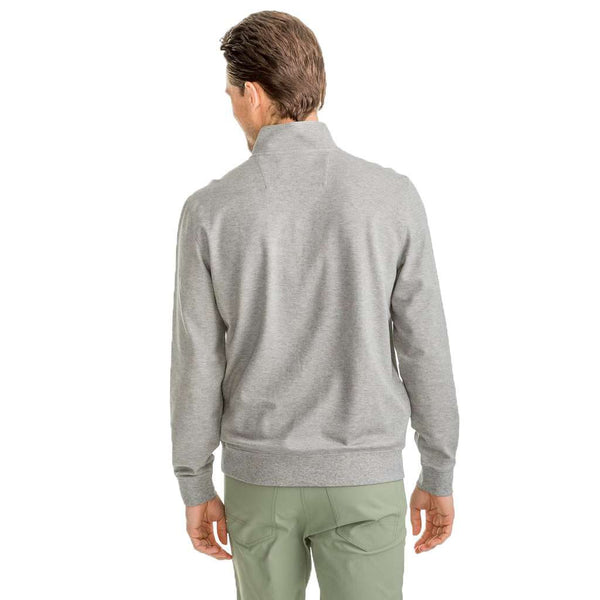 Southern Tide Skipjack Pique 1/4 Zip Pullover in Heather Grey