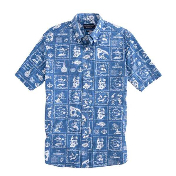 Reyn Spooner Bandana Print Intercoastal Performance Short Sleeve Shirt by Southern Tide