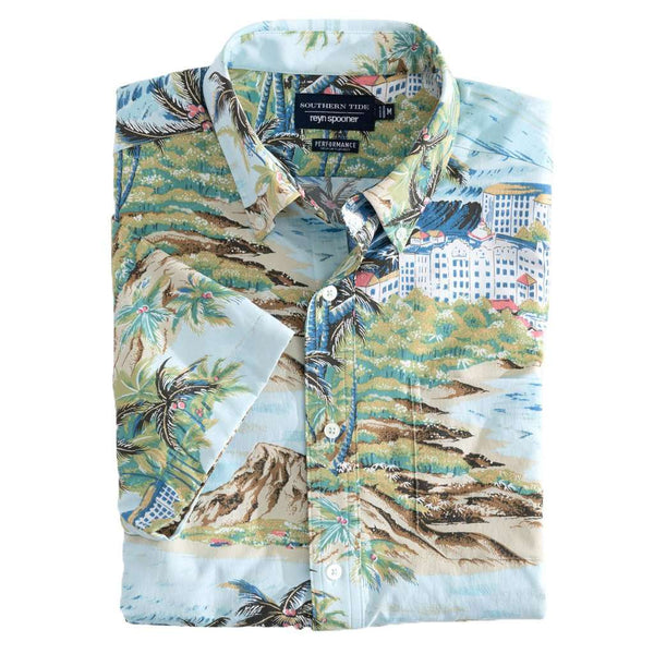 Southern Tide Reyn Spooner Island Time Intercoastal Performance Short Sleeve Shirt by Southern Tide