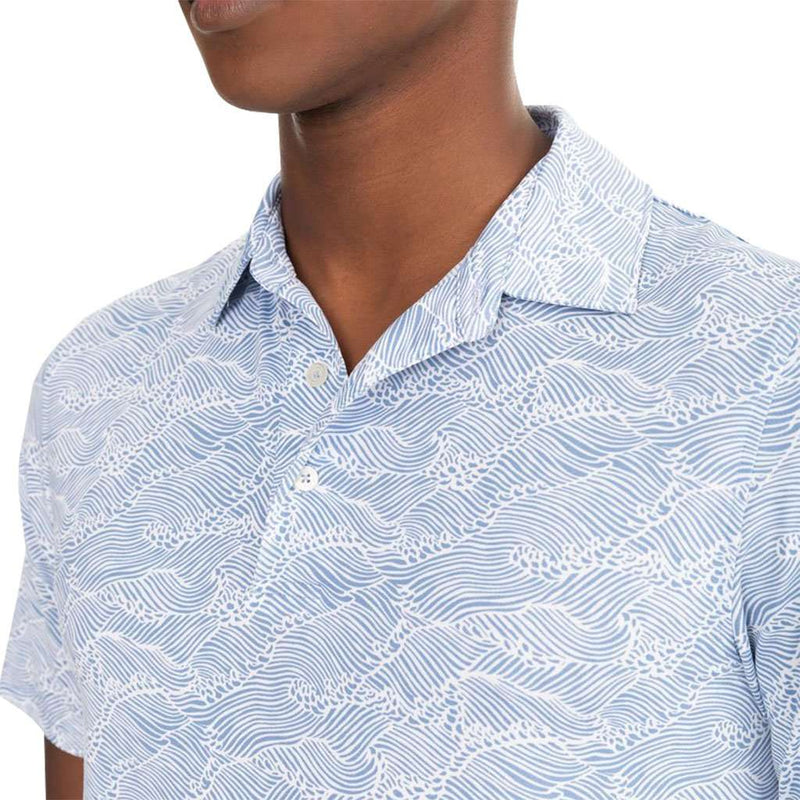 Southern Tide Reyn Spooner Wave Print Performance Polo by Southern Tide