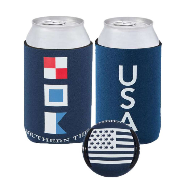 USA Magnetic Can Caddie in Yacht Blue by Southern Tide