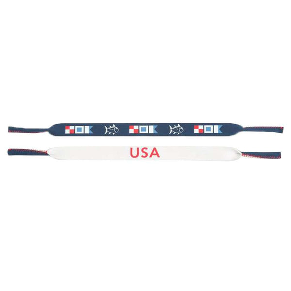 USA Sunglass Strap in Yacht Blue by Southern Tide