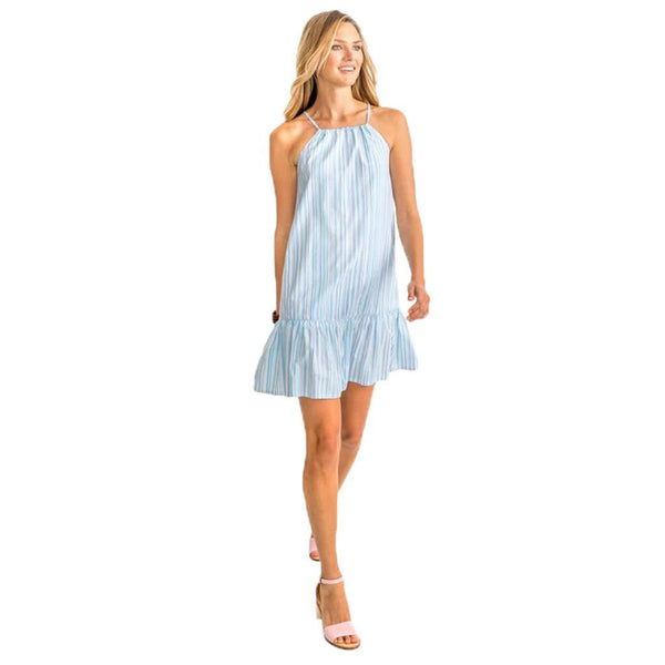 Ivette Multi Tonal Striped Seersucker Dress by Southern Tide