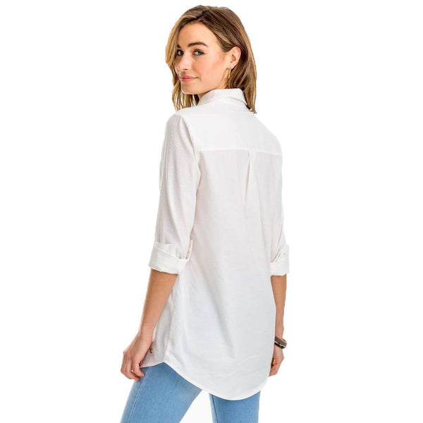 Kasey White Seersucker Tunic by Southern Tide - FINAL SALE