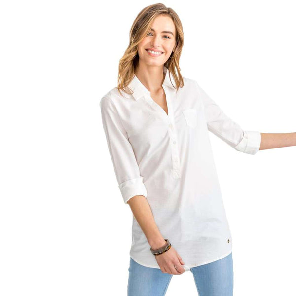 Kasey White Seersucker Tunic by Southern Tide