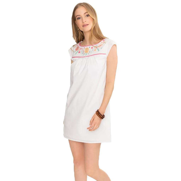 Southern Tide Sadie Seersucker Embroidered Dress Free Shipping