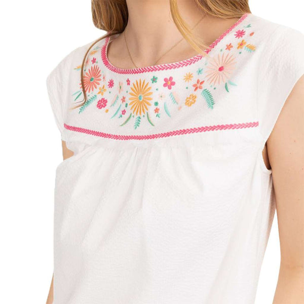 Southern Tide Sadie Seersucker Embroidered Dress by Southern Tide