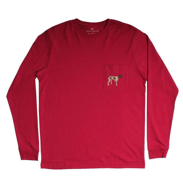 Signature Logo Long Sleeve Tee in Cranberry by Southern Point - FINAL SALE
