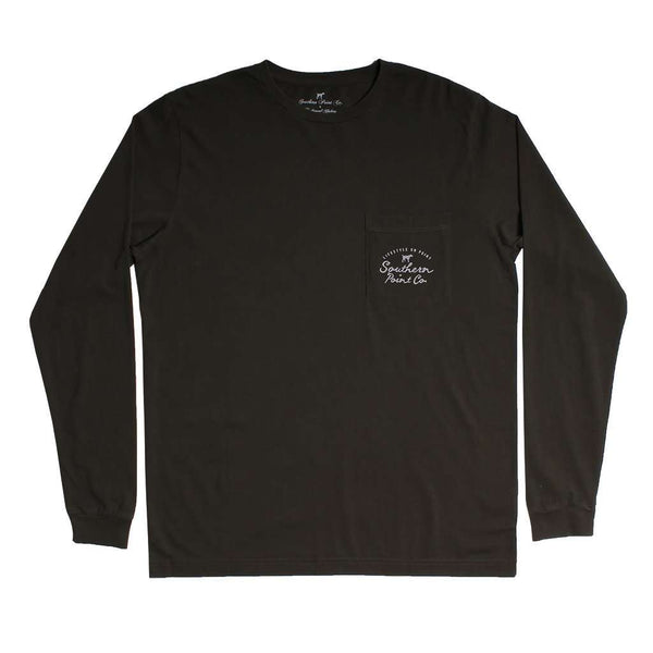 Hunting Dog Long Sleeve Tee in Moss by Southern Point - FINAL SALE