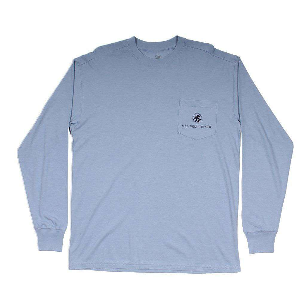 Southern Proper Dog in This Fight Long Sleeve Tee in Dust Blue