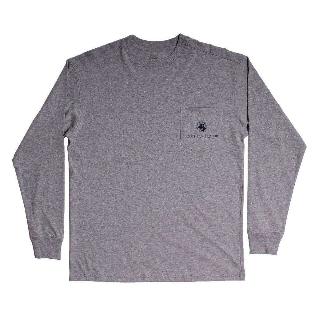 Southern Proper Deck Yourself Long Sleeve Tee in Grey
