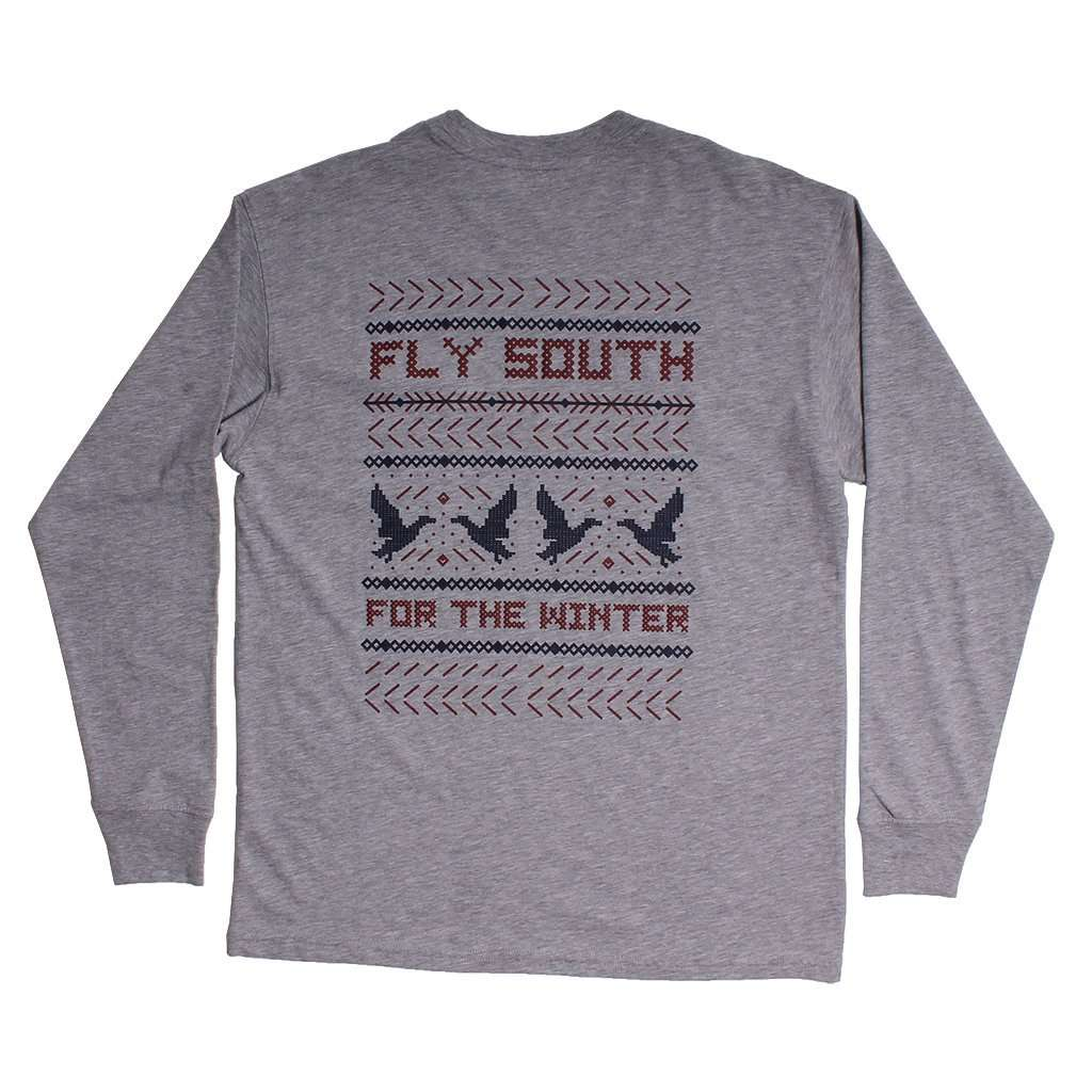 Southern Proper Fly South Long Sleeve Tee in Grey