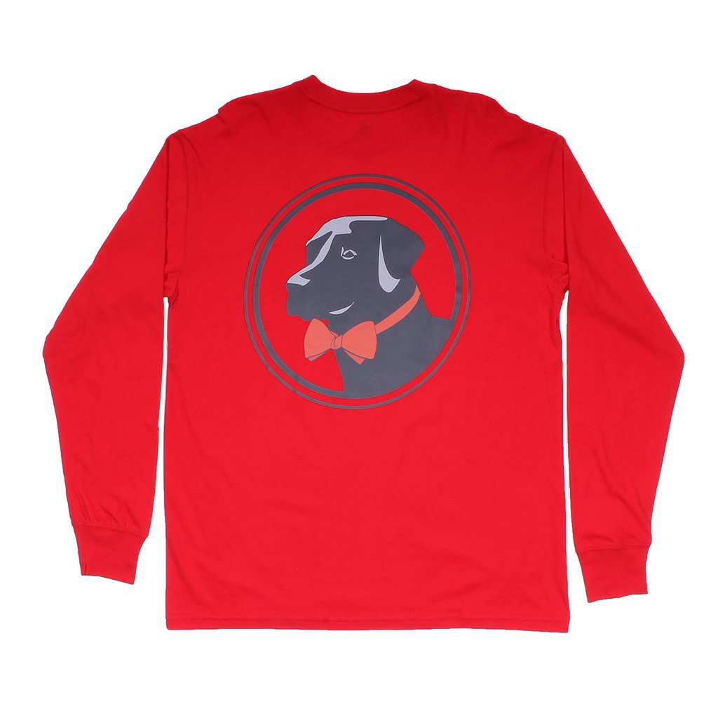 Southern Proper Original Logo Long Sleeve Tee in Cherry