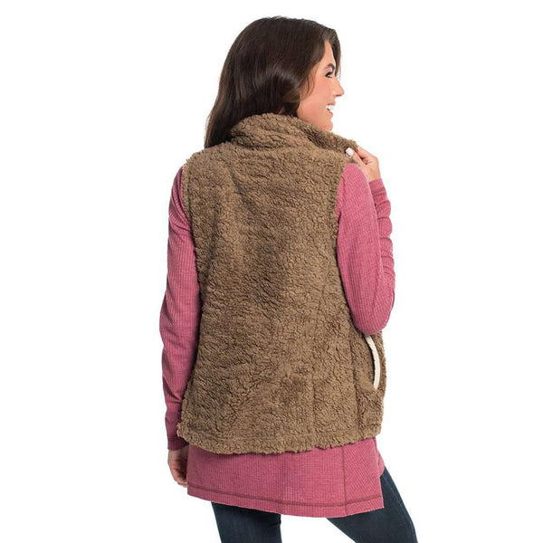 Sherpa Vest in Caribou by The Southern Shirt Co. - FINAL SALE