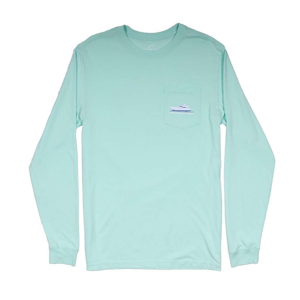 Southern Tide Southern Yacht Week Long Sleeve T-Shirt in Offshore Green