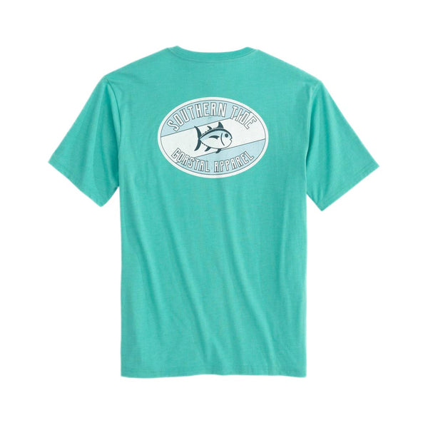 Weathered Label Heathered Tee Shirt by Southern Tide