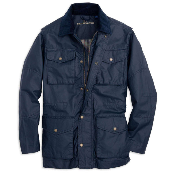 Maritime Wax Jacket in Blue Depths by Southern Tide  - 1