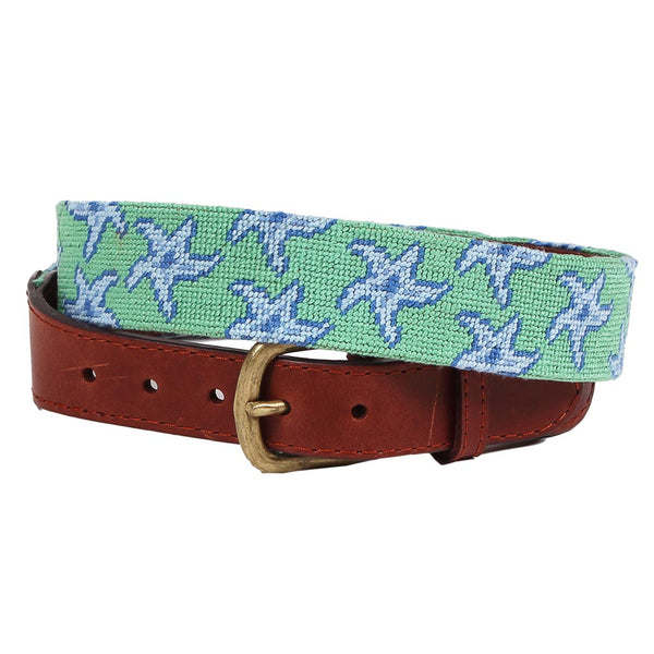 Starfish Needlepoint Belt by Smathers & Branson