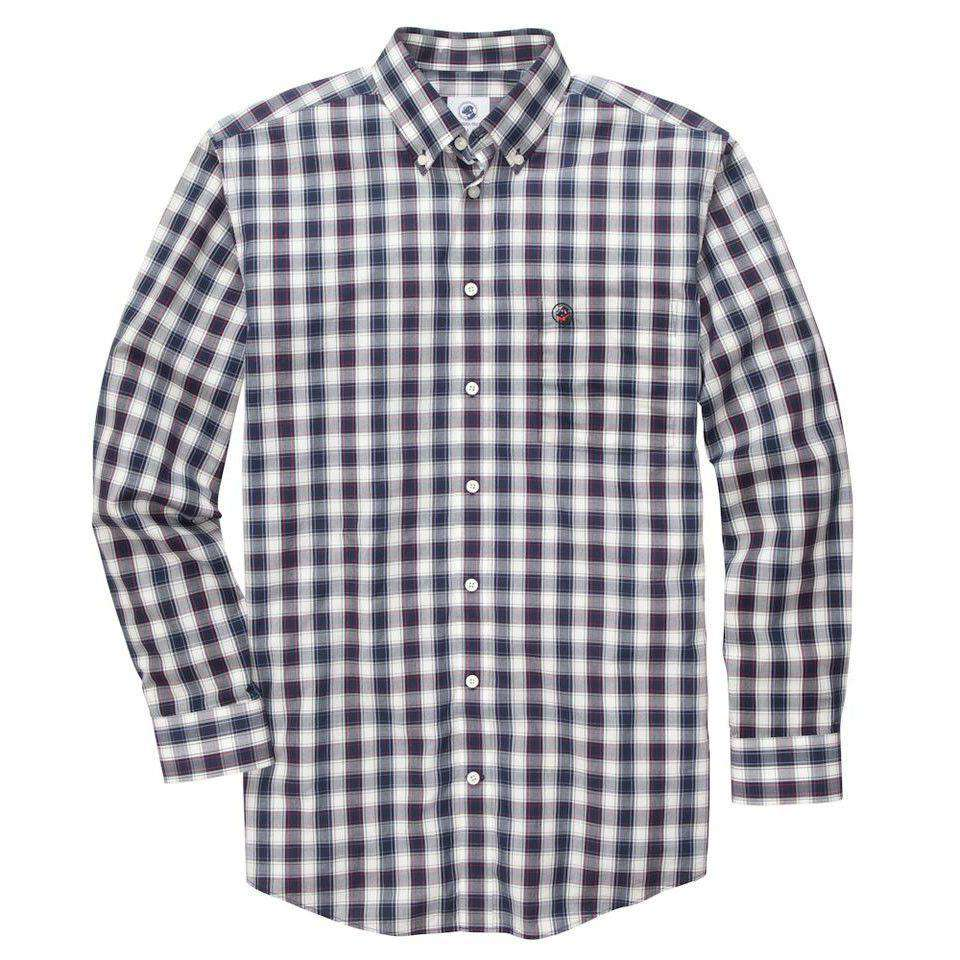 Storey Southern Shirt in Blue/White Plaid by Southern Proper  - 1