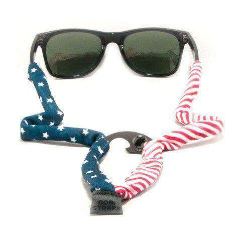 Sunglass Straps - American Flag Bottle Opener Sunglass Straps By Gobi Straps