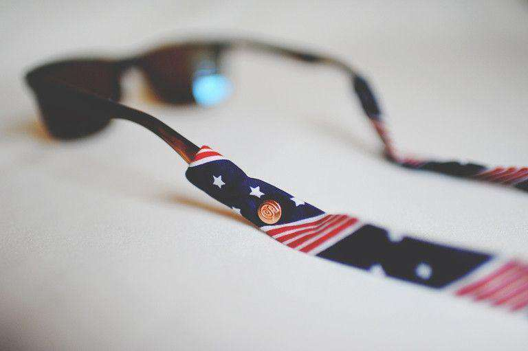 Sunglass Straps - American Flag (Navy Stars) Sunglass Straps By CottonSnaps