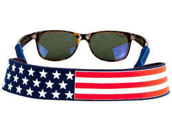 American Flag Sunglass Straps in Red, White and Blue by Collared Greens