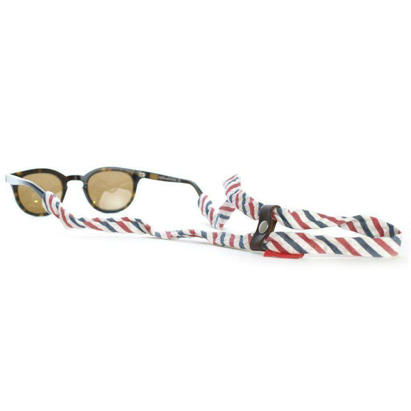 Sunglass Straps - Barber Stripe SHADESTRAPS® By Knot Belt Co.