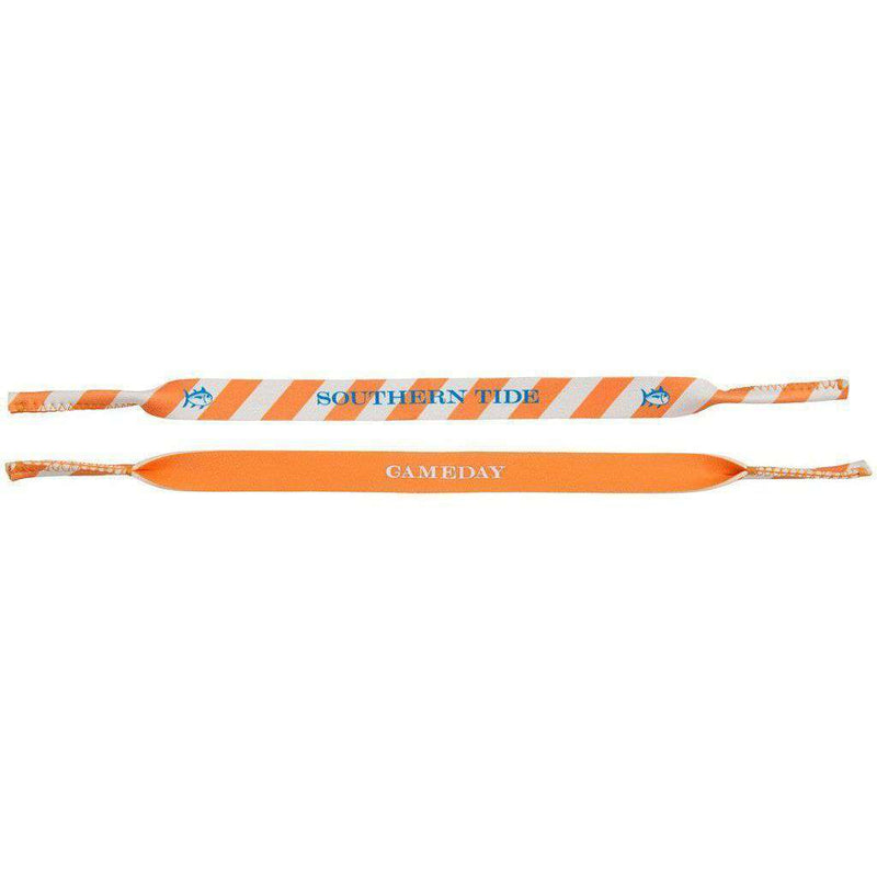Sunglass Straps - Collegiate Sunglass Straps In Orange & White By Southern Tide
